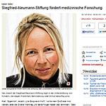 Siegfried-Neumann-Stiftung fördert medizinische Forschung